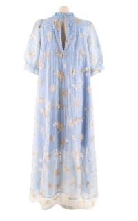 Manoush Blue gingham 'Vichy Star' Dress 2 Preview Images