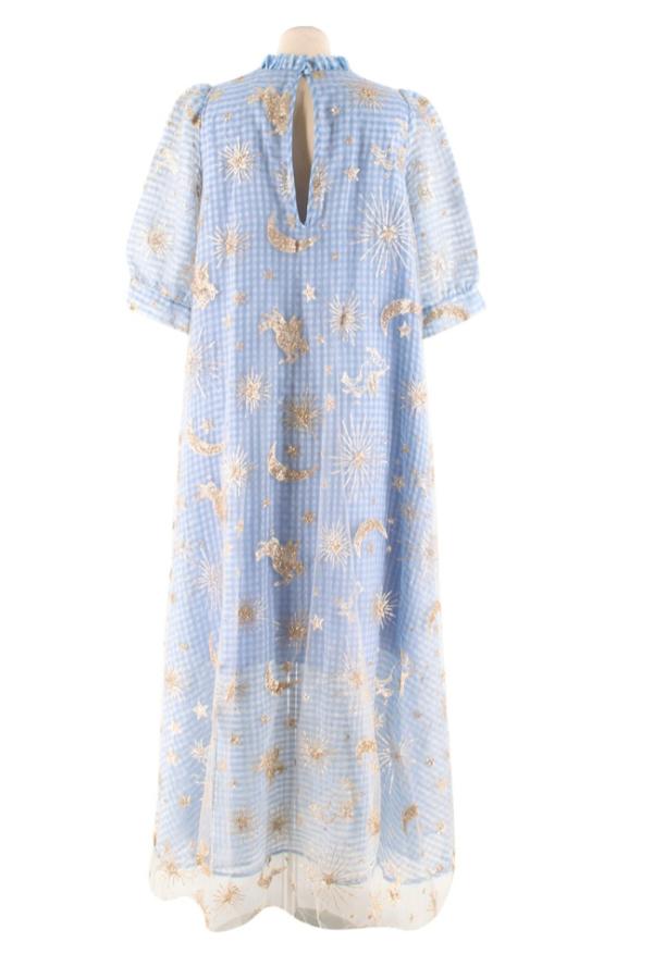 Manoush Blue gingham 'Vichy Star' Dress 2