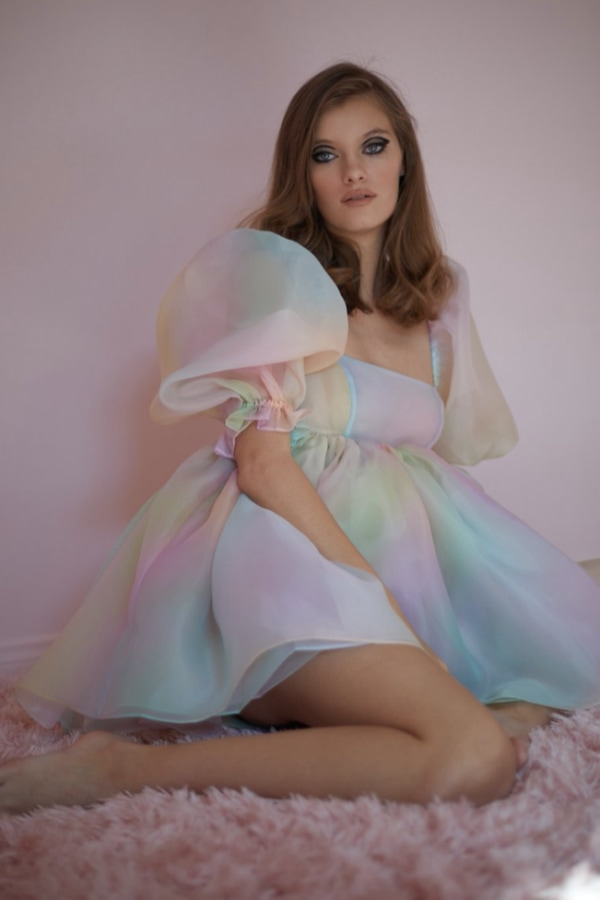 Image 4 of Selkie the rainbow puff dress