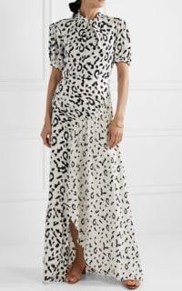 Self Portrait Open-back ruched leopard dress 3 Preview Images