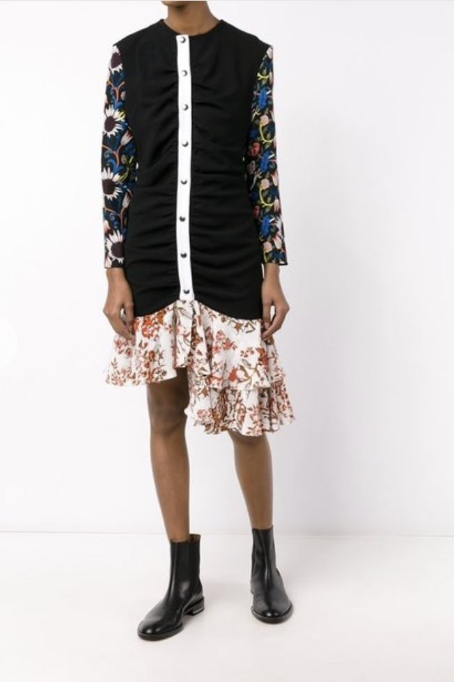 JW Anderson Floral Ruffle Dress Preview Images