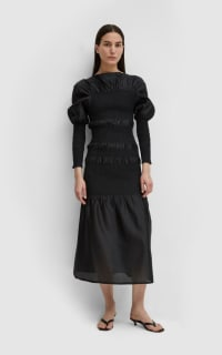 Toteme Black Coripe Dress 3 Preview Images