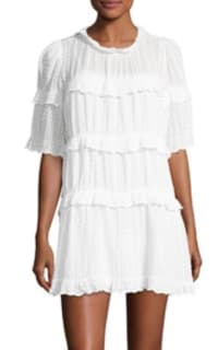 Isabel Marant Yukio tiered white dress  Preview Images