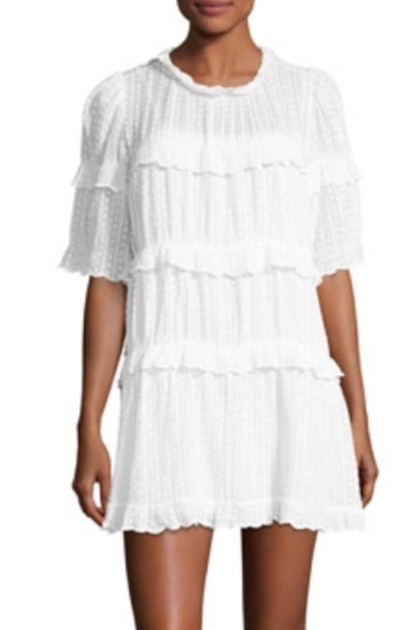Isabel Marant Yukio tiered white dress
