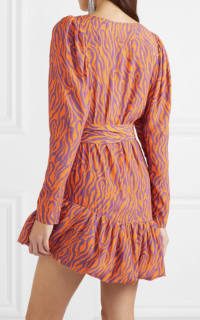 Rotate Birger Christensen Zebra Print Twill Dress 3 Preview Images