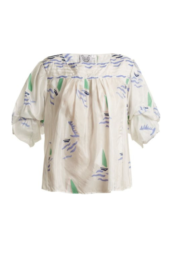 Thierry Colson Rock the Boat silk top