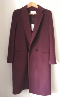 Claudie Pierlot Aubergine coat 3 Preview Images