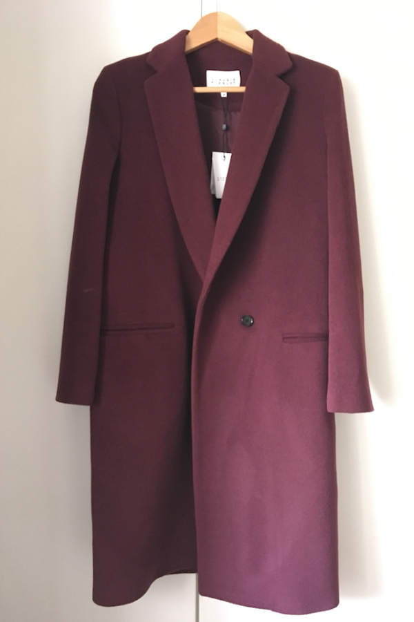 Claudie Pierlot Aubergine coat 3