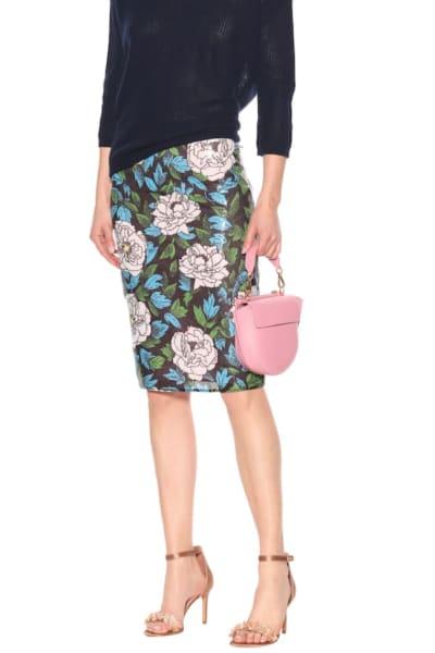 Diane Von Furstenberg Floral sequinned skirt 2