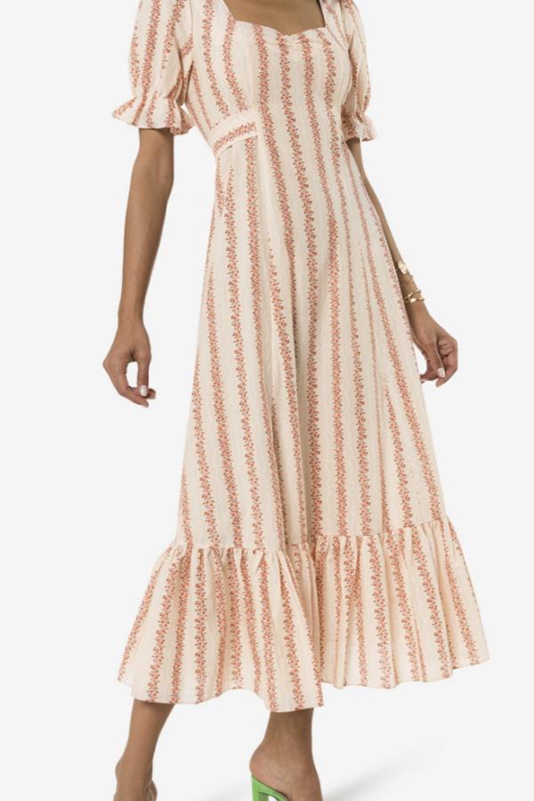 RIXO London Kate Flora Stripe