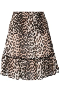 Ganni Leopard Mini Skirt Preview Images
