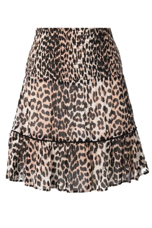 Ganni Leopard Mini Skirt