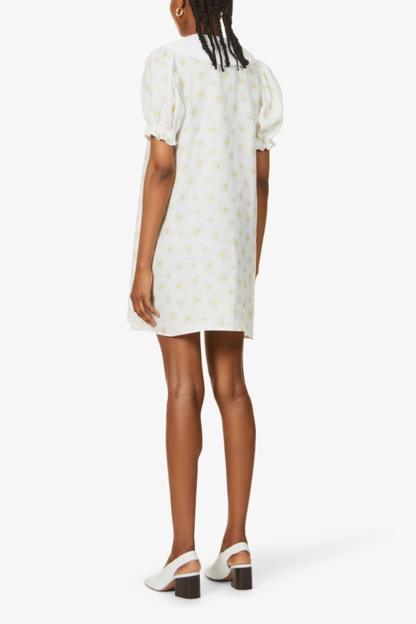 SLEEPER Marie Linen Dress in Daisies 3 Preview Images