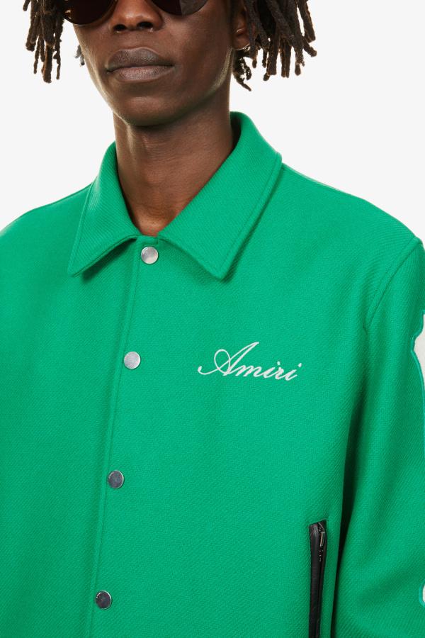 Image 5 of Amiri bones-embellished woven bomber jacket