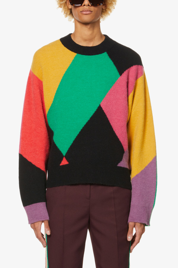 Image 4 of Palm Angels palm angels x missoni oversized knitted jumper