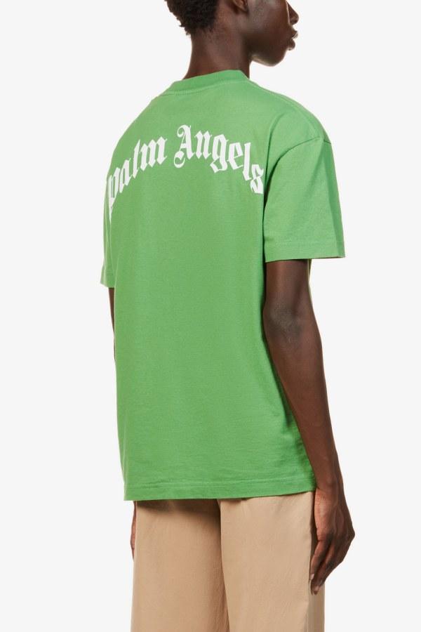 Image 3 of Palm Angels bear-print crewneck cotton-jersey t-shirt