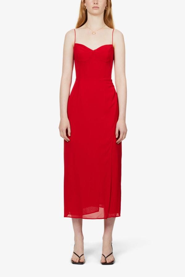 Image 2 of Reformation kourtney self-tie crepe midi dress