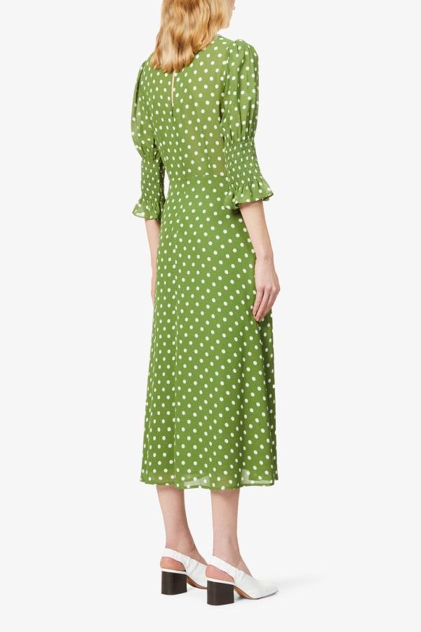 Image 4 of Reformation carolena polka dot-print midi dress