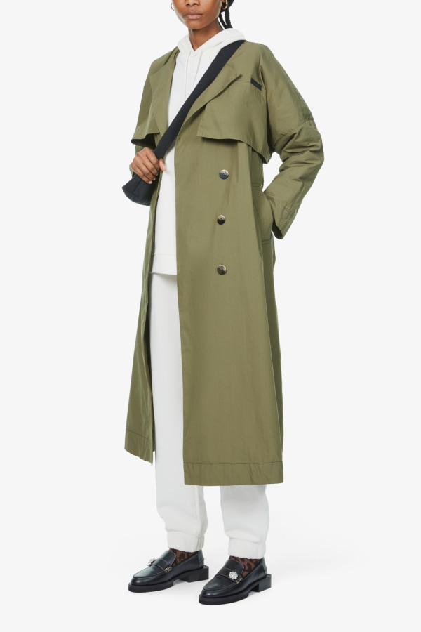Image 3 of Ganni stretch-canvas trench coat