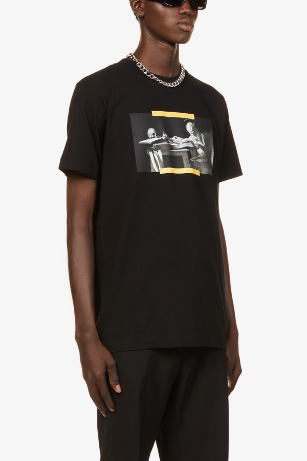 Image 2 of Off White C/O Virgil Abloh caravaggio graphic-print cotton-jersey t-shirt