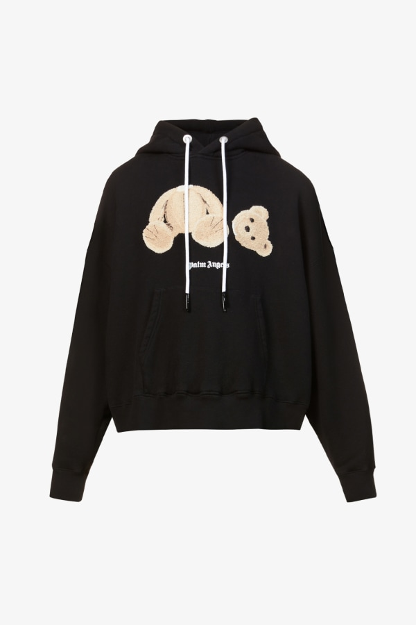 Image 1 of Palm Angels bear-print cotton-jersey hoody