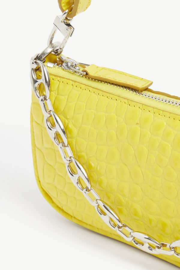 BY FAR MINI RACHEL CROCODILE-EMBOSSED 3 Preview Images
