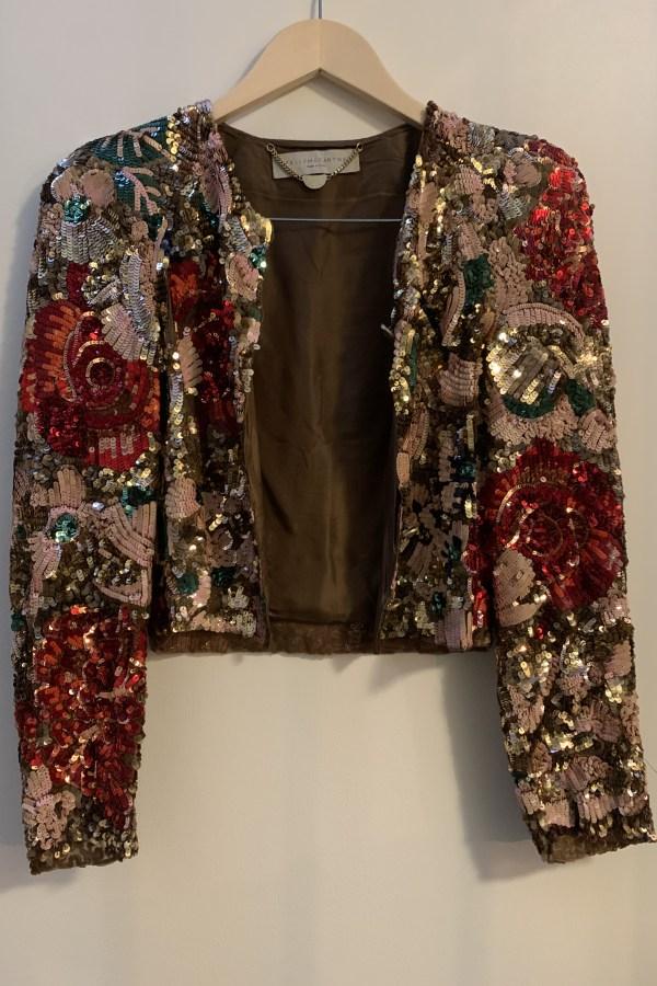 Image 4 of Stella Mc Cartney sequin cropped jacket