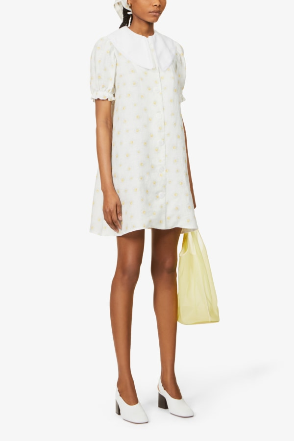SLEEPER Marie Linen Dress in Daisies 1 Preview Images