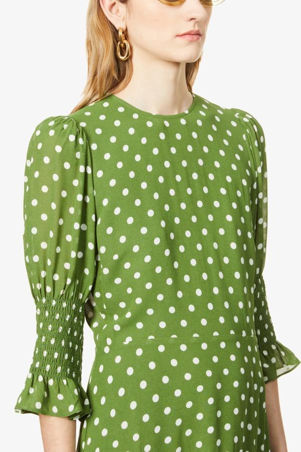 Image 5 of Reformation carolena polka dot-print midi dress