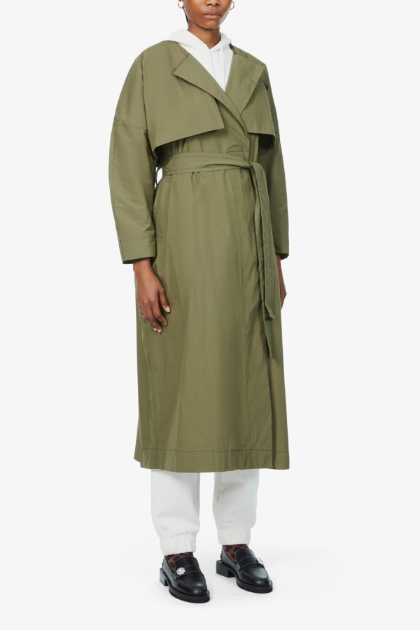 Image 2 of Ganni stretch-canvas trench coat
