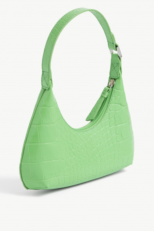 Image 2 of By Far baby amber croc-embossed leather shoulder bag