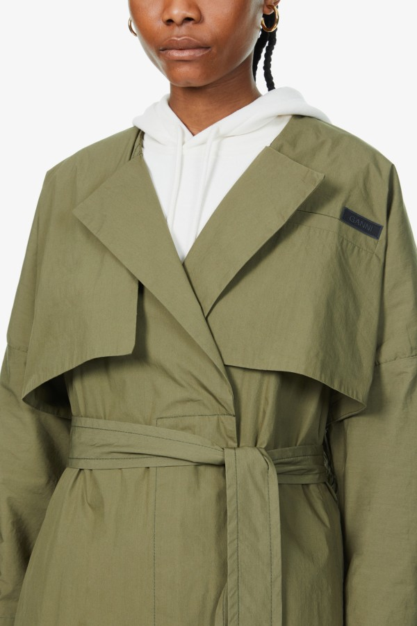 Image 5 of Ganni stretch-canvas trench coat