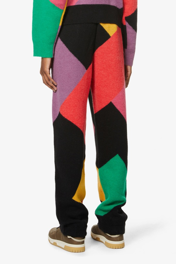 Image 2 of Palm Angels palm angels x missoni abstract-pattern knitted jogging bottoms