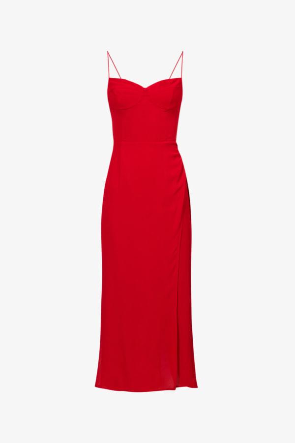 Image 1 of Reformation kourtney self-tie crepe midi dress