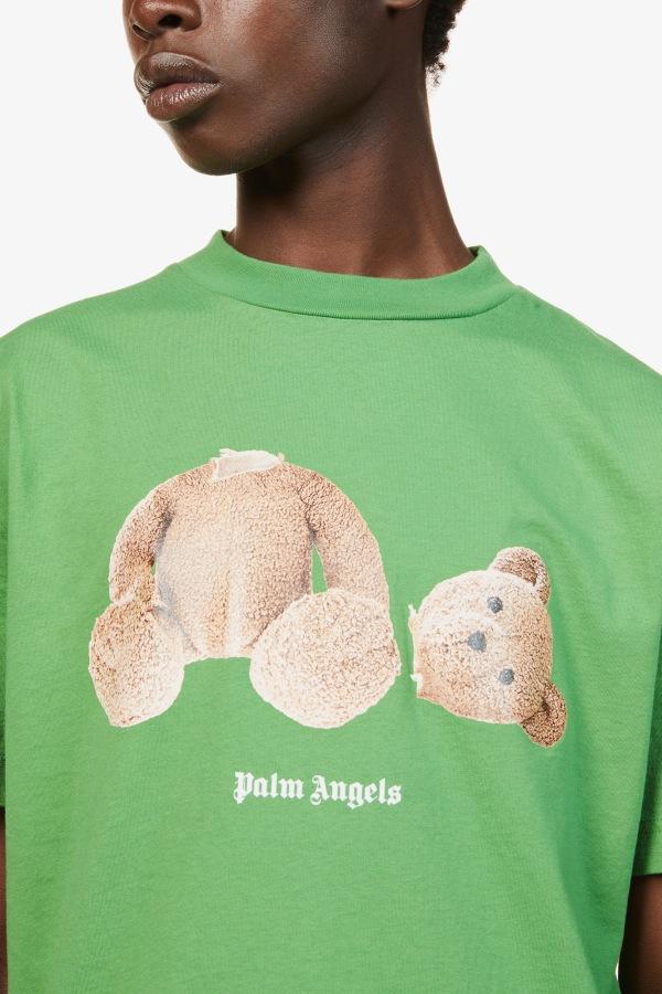 Image 2 of Palm Angels bear-print crewneck cotton-jersey t-shirt
