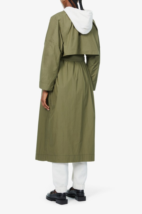 Image 4 of Ganni stretch-canvas trench coat