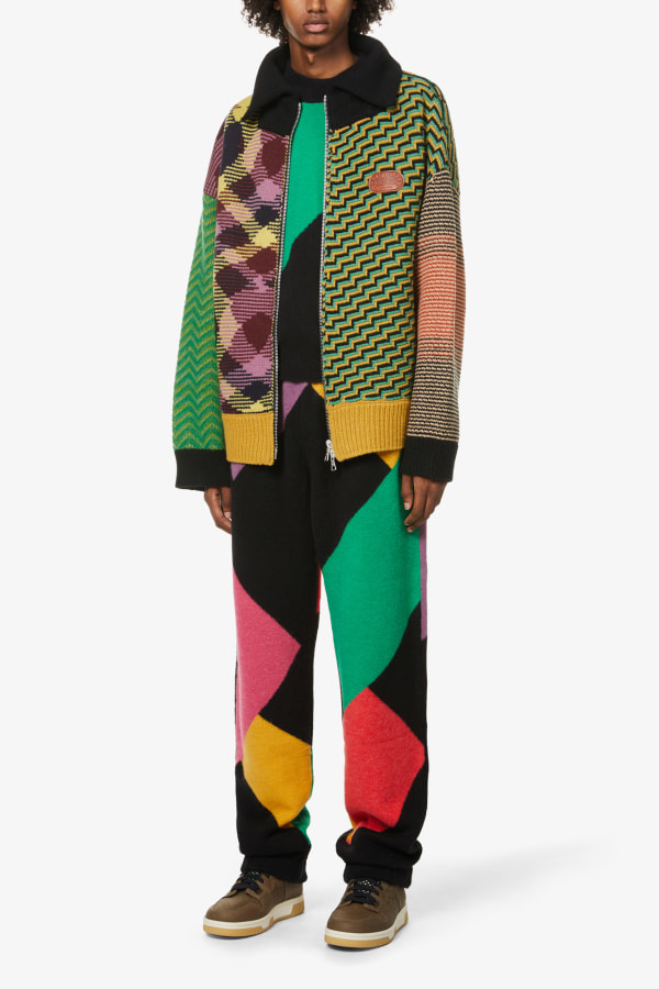 Image 4 of Palm Angels palm angels x missoni abstract-pattern knitted jogging bottoms