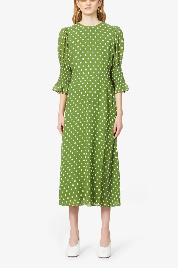 Image 3 of Reformation carolena polka dot-print midi dress