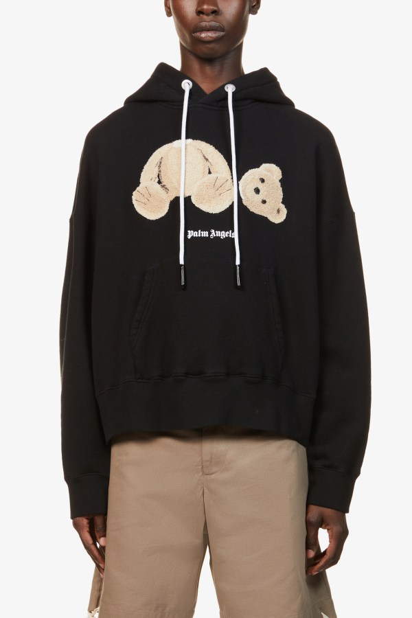 Image 2 of Palm Angels bear-print cotton-jersey hoody