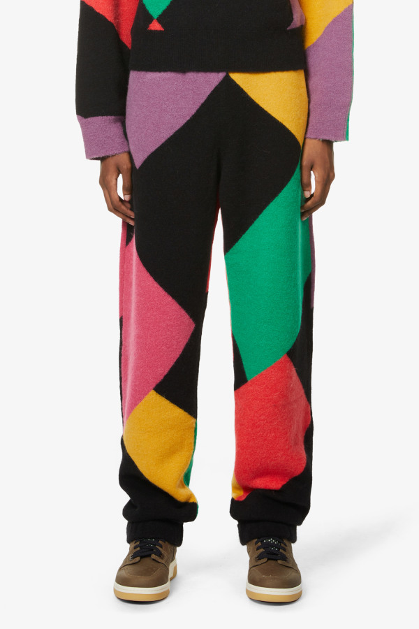 Image 3 of Palm Angels palm angels x missoni abstract-pattern knitted jogging bottoms
