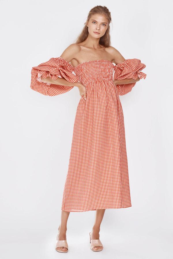 Image 4 of Sleeper atlanta linen dress