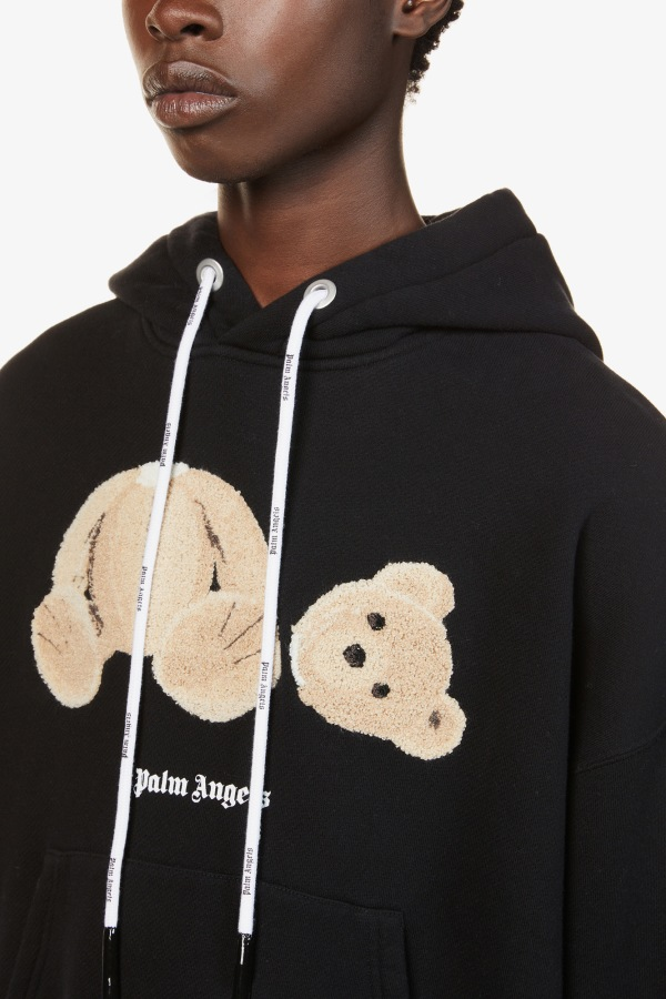 Image 5 of Palm Angels bear-print cotton-jersey hoody