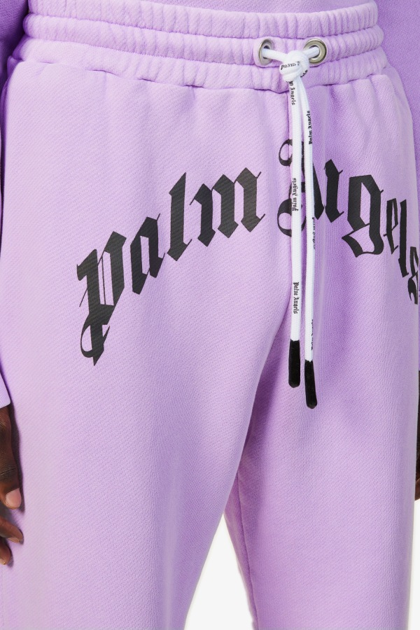 Image 5 of Palm Angels logo-print relaxed-fit cotton-jersey jogging bottoms