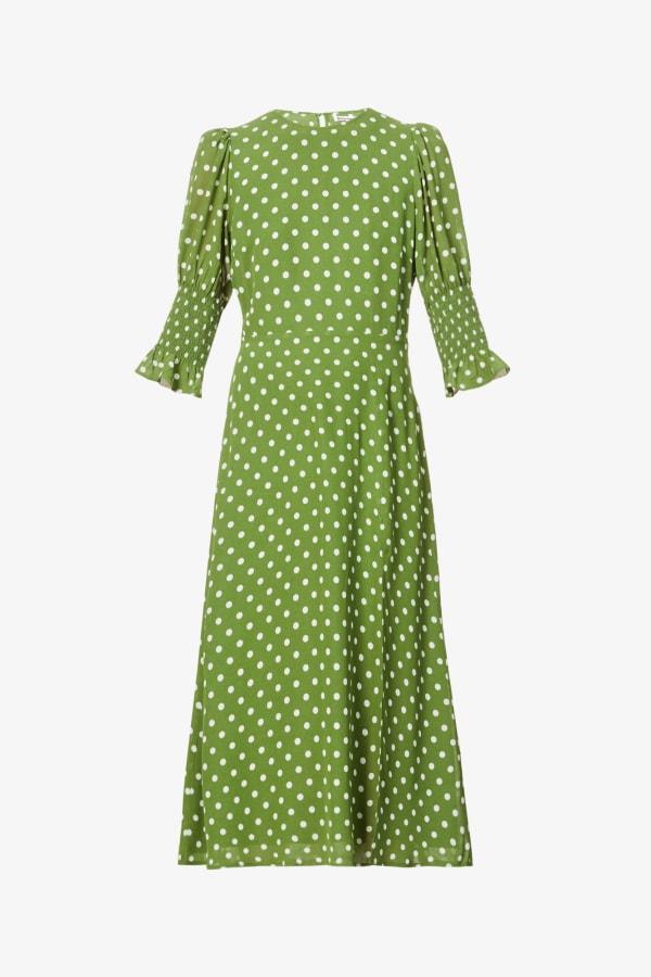 Image 1 of Reformation carolena polka dot-print midi dress