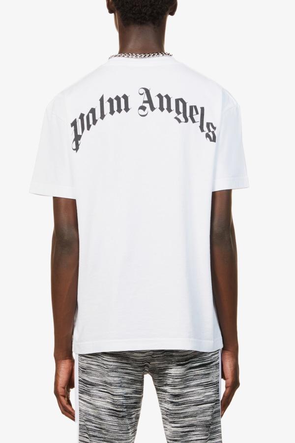 Image 5 of Palm Angels bear-print crewneck cotton-jersey t-shirt