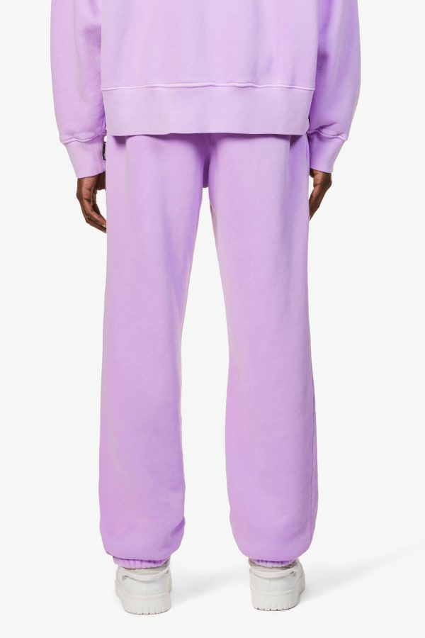Image 3 of Palm Angels logo-print relaxed-fit cotton-jersey jogging bottoms