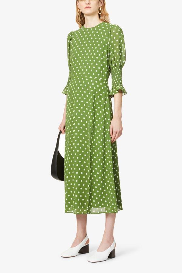 Image 2 of Reformation carolena polka dot-print midi dress