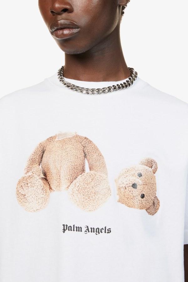 Image 4 of Palm Angels bear-print crewneck cotton-jersey t-shirt