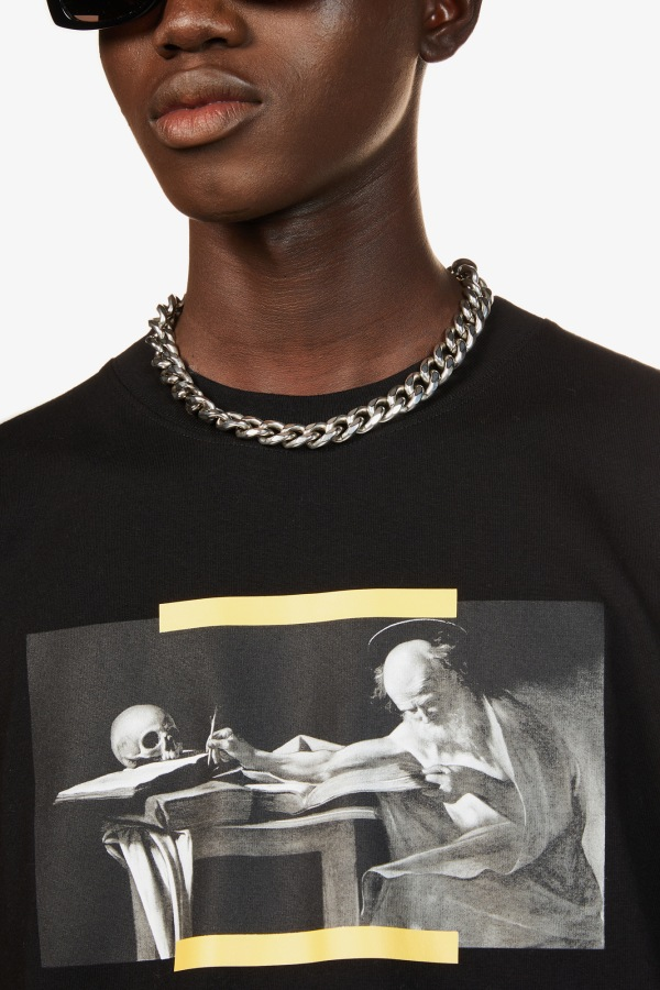 Image 5 of Off White C/O Virgil Abloh caravaggio graphic-print cotton-jersey t-shirt