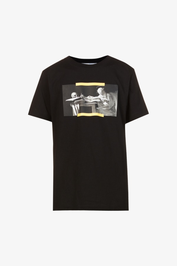 Image 1 of Off White C/O Virgil Abloh caravaggio graphic-print cotton-jersey t-shirt